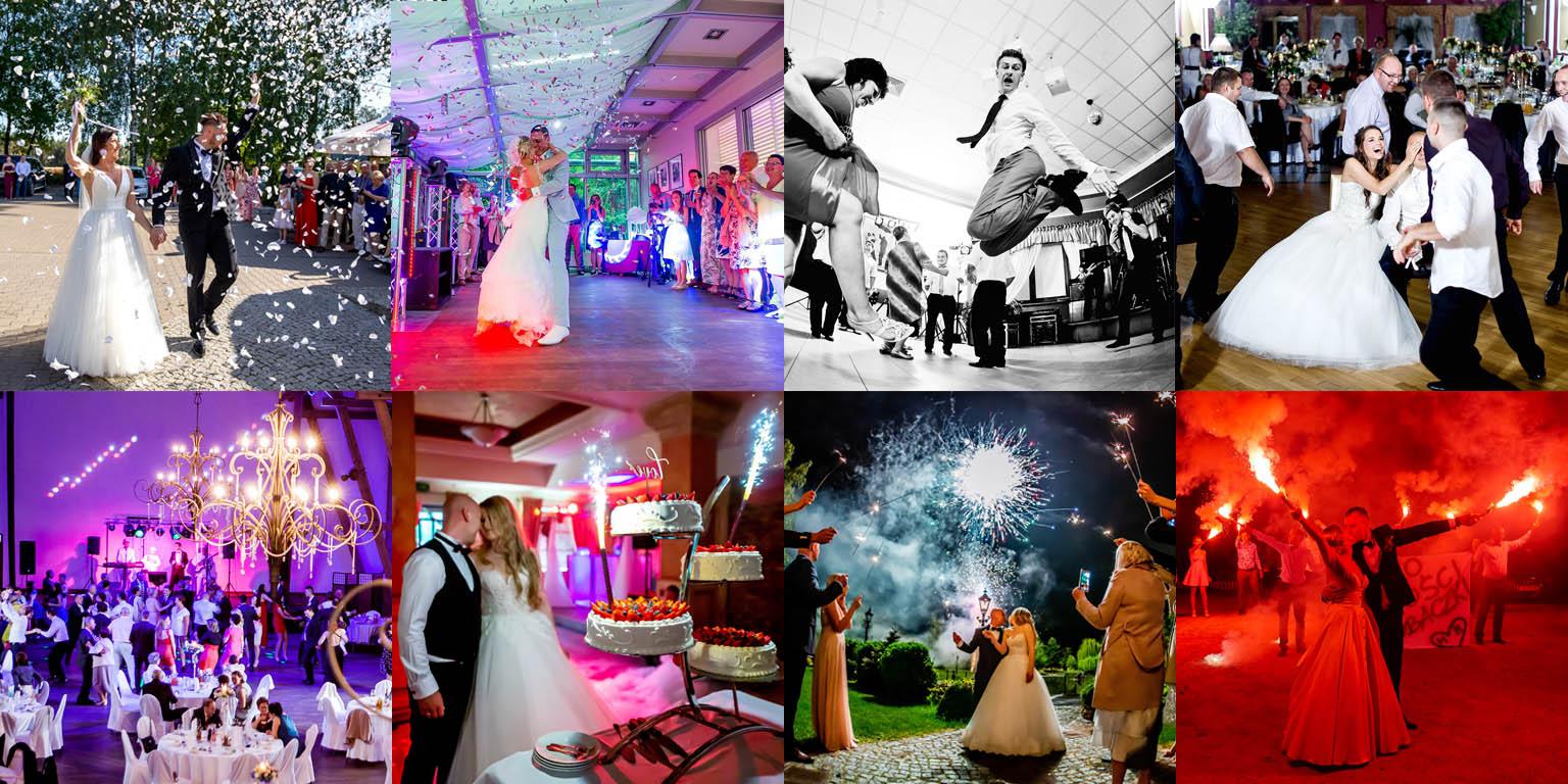 Film i fotografia ślubna. Zdjęcia z wesela. Pierwszy taniec i zabawa na sali.