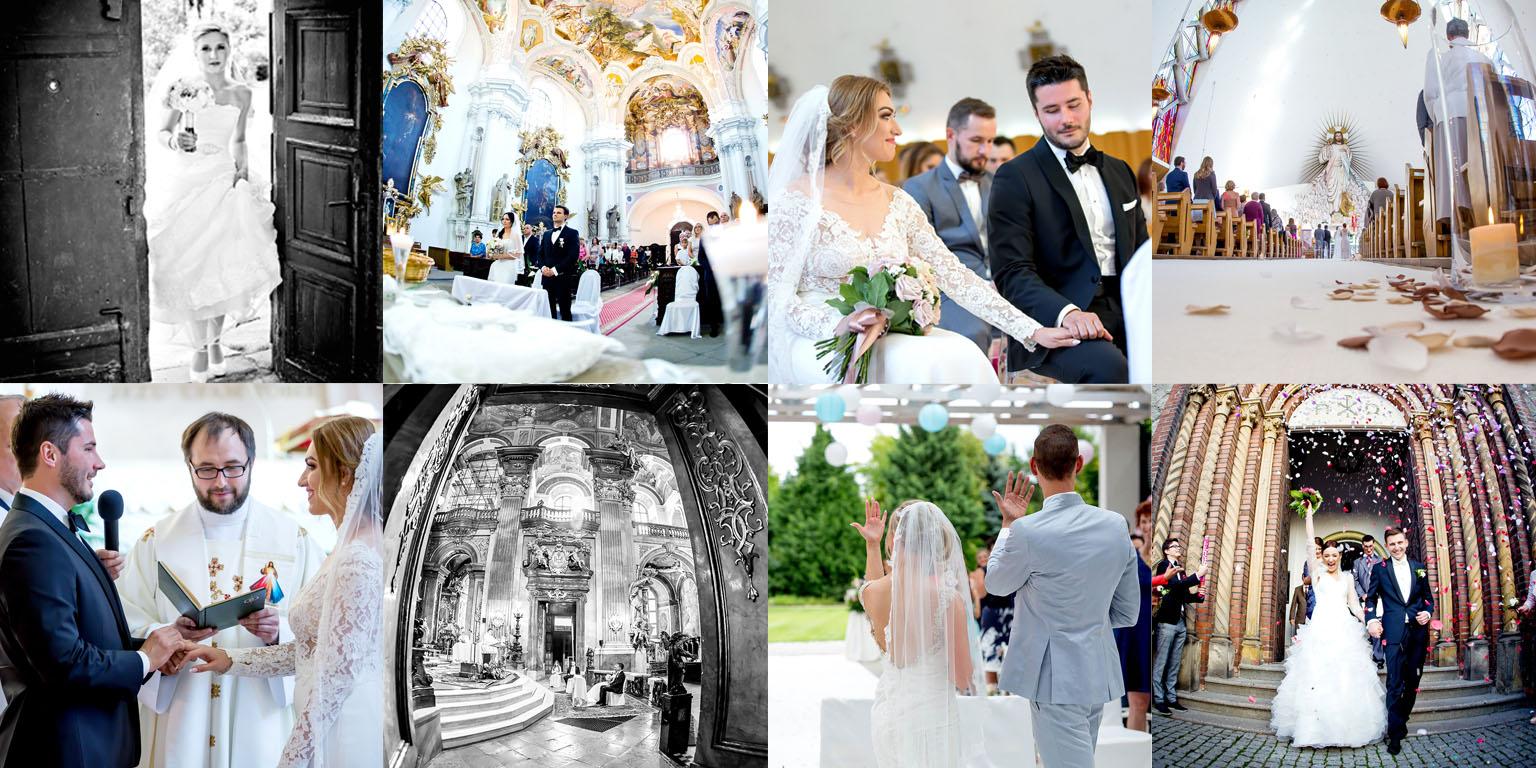 Fotograf ślubny Wroclaw .Kolaż zdjęć z ceremonii zaślubin.